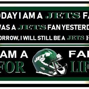 2 - NEW YORK JETS - FAN FOREVER SIGNS 11 BY 17 IN
